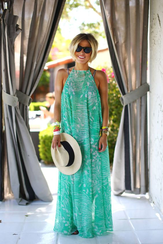 Colorful, breezy maxi dresses are a vacation style staple. They