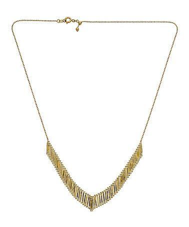 Look at this #zulilyfind! 14k Gold V-Shape Necklace #zulilyfinds