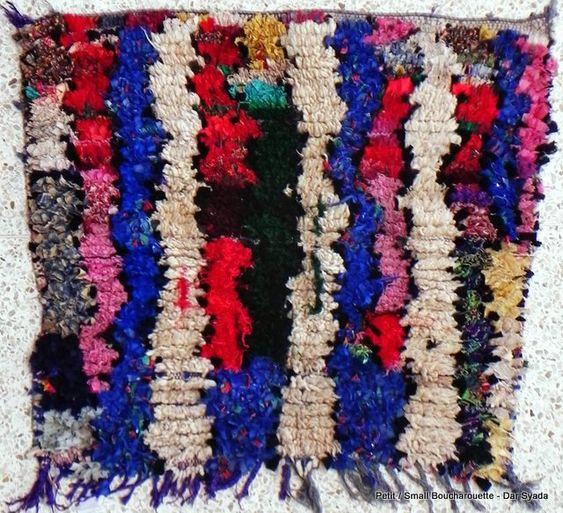 Petits du Catalogue tapis Boucharouette : TT10625 framed