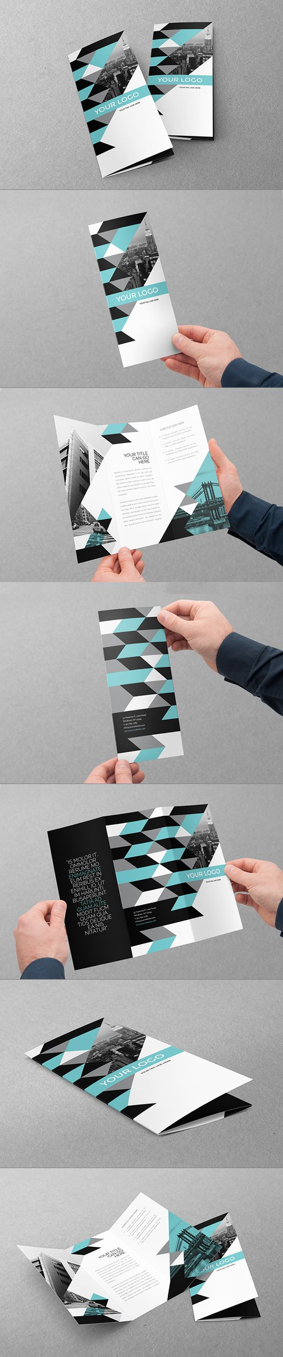 Clean Modern Business Trifold. Download here: http://graphicriver.net/item/clean-modern-business-trifold/11158783?ref=abradesign #trifold #brochure #design