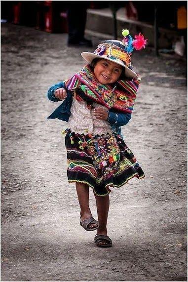 La alegría de una niña peruana.