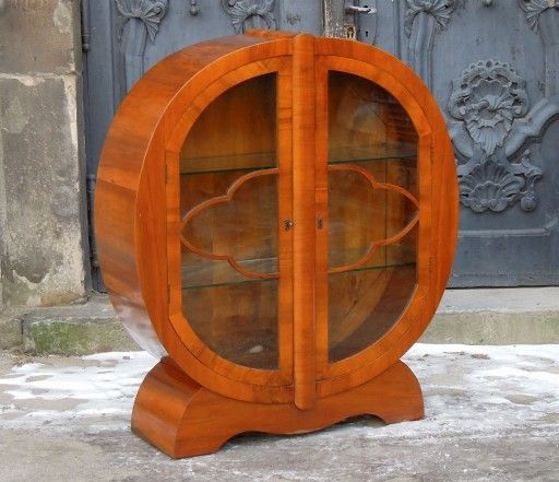 Witrynka Art Deco Serwantka W Orzechu Raty Antyk 7222156239 Oficjalne Archiwum Allegro Art Deco Deco Home Decor