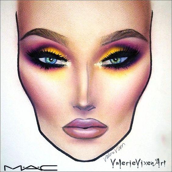 "Valerie Vixen ""So Enchanting"" face chart"