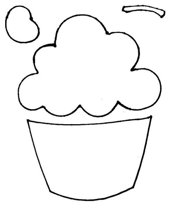 Como prometido no ar, segue aqui o molde do cupcake para fazer o caderno de receitas/recordações em feltro que ensinei no Tudo Artesanal.Beijoca