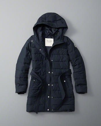 ANF Hooded Puffer Jacket