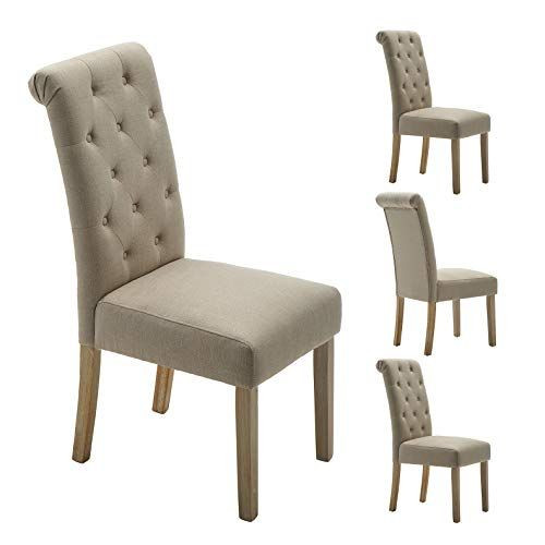 Zorlinex Habit Solid Wood Tufted Parsons Dining Chair Upholstered Armless Dining Chairs Set Of 4 Parsons Dining Chairs Upholstered Dining Chairs Dining Chairs