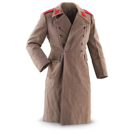 Hungarian Military Surplus Wool Trench Coat. $53 | For Him