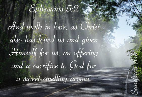 Sandra's Ark: Smile God Loves You! Ephesians 5:2 - Sunday Scripture