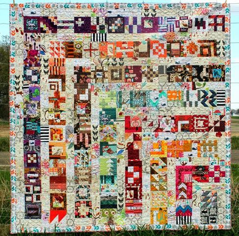 Thinking about a similar style using blocks from the Splendid Sampler QAL.