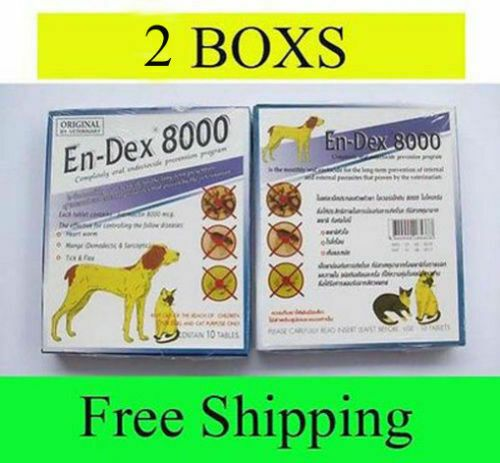 2 Box Pet Tablet Pill Endex 8000 Remove Prevent Ticks And Fleas For Cats Dogs 689971925019 Ebay Ad A Tick Prevention Flea Control For Cats Cats For Sale