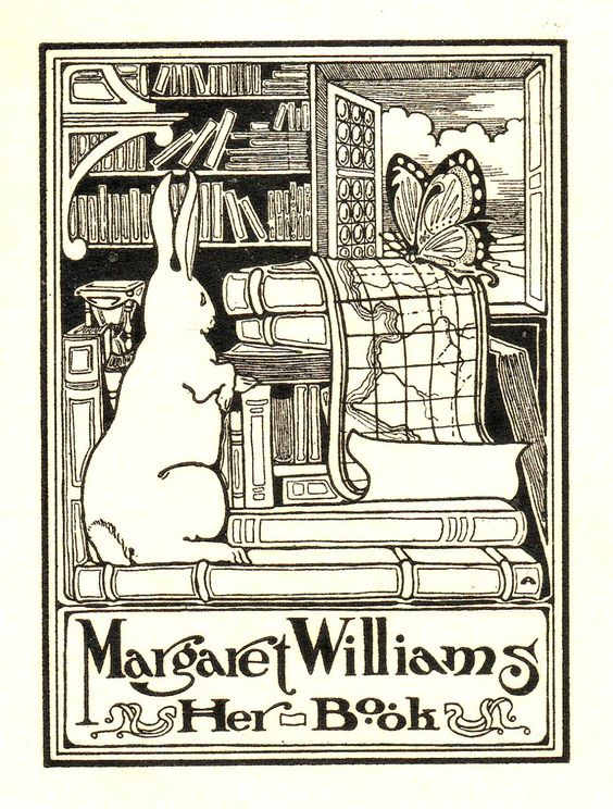 Love all of the books in this bookplate. S: