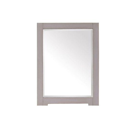 Avanity Kelly 32 in. L x 24 in. W Framed Wall Mirror in Grayish Blue, Gray
