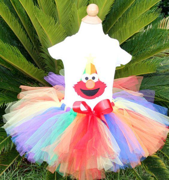 Set de tutu de cumpleaños de Elmo por kajanuary1 en Etsy