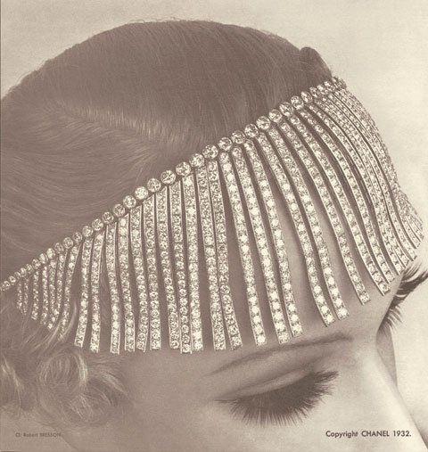 coco chanel 1920s head piece fine jewelry pinterest