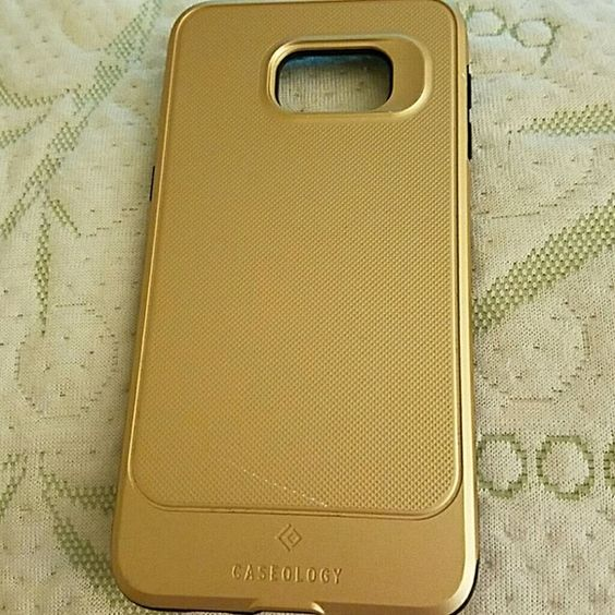 CELLPHONE CASE GOLD CASEOLOGY PHONE CASE USED ONCE SAMSUNG Accessories Phone Cases