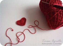 passo a passo de coração de crochê