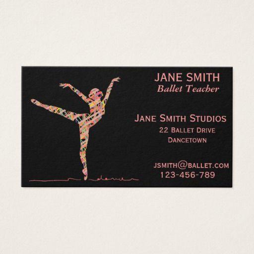 Ballet Teacher Dance Teacher Dance Studio Business Card Zazzle Com In 2020 Ballet Teacher Dance Teacher Dance Business