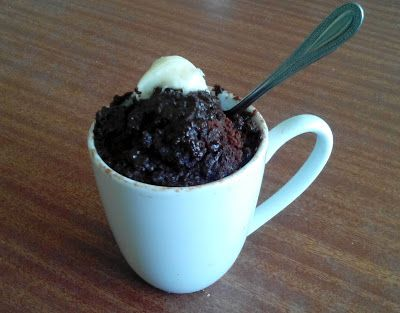 Chocolate y Nutella Mug Cake