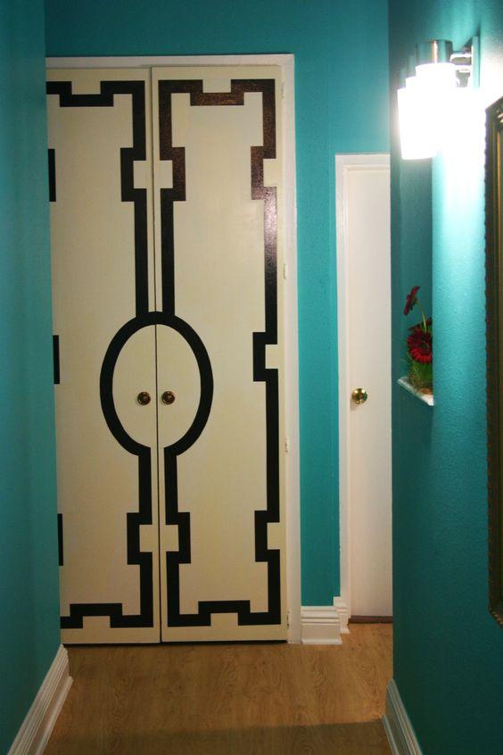 Cool paint treatment for doors. Via blog.KatieMaennle.com