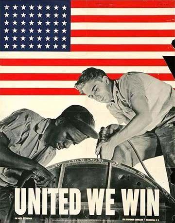 World War II United We Win Poster