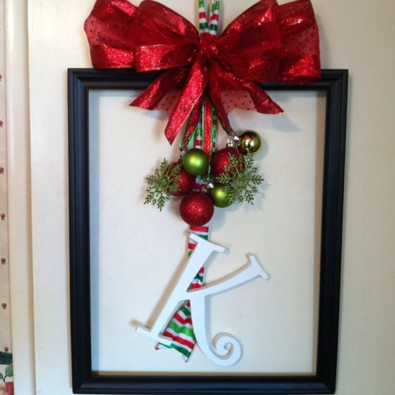 christmas frame wreaths | Frame wreath