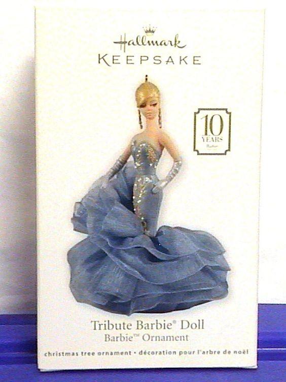 Hallmark Ornament Tribute Barbie Doll 10th Anniversary Robert Best Fashion 2011 | eBay