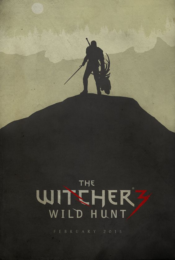 Hunting Evil - The Witcher 3: Wild Hunt Poster by Edwin Julian Moran II
