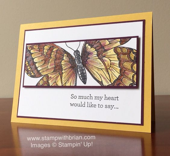 Swallowtail, An Open Heart, Stampin' Up!, Brian King, FabFri77, sympathy card: