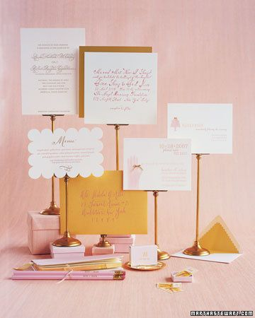 pink n gold stationary