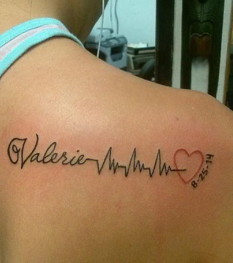 Tatuajes De Latidos Del Corazon O Electrocardiograma Ideas De Tatuajes Con Nombres Y Tatuajes De Nombres Tatuajes De Latido Del Corazon Corazones Con Nombres