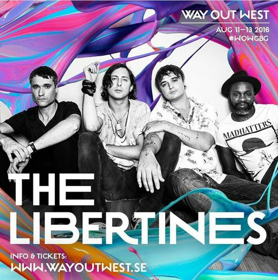 The Libertines confirmed for @wayoutwestgbg festival in Gothenburg!