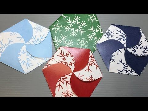 Origami Snowflake Petal Fold Case Print Your Own - YouTube