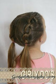 Knot pig tails and many more little girl hair styles