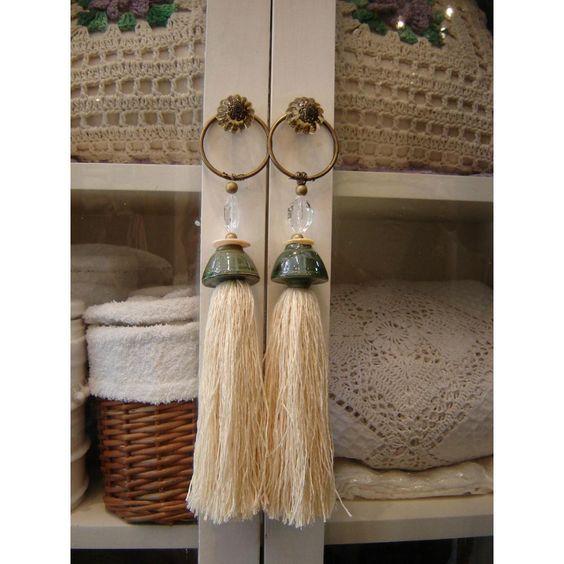 Lindas borlas par tiradores de muebles telares - Tiradores decorativos ...