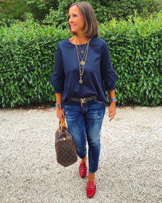 """Tanja 🌸Daily Outfits & Details on Instagram: """"Einen wunderschönen guten Morgen liebe Instafam💙❤️💙 ********************************************Outfitlinks in der Bio:21buttons.com/jagta8…"""""""