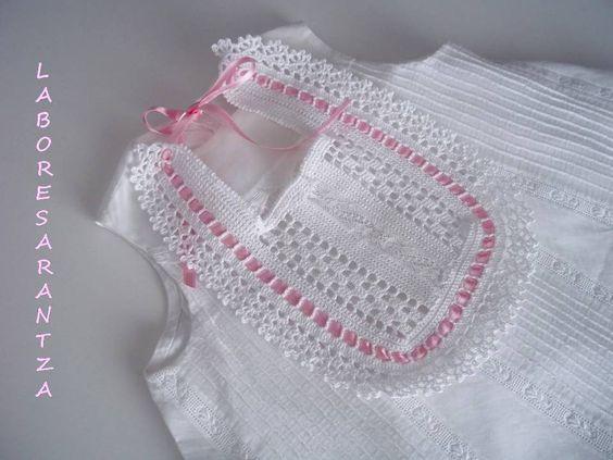 Puntillas de crochet para gasas de bebe buscar con - Labores de crochet para bebes ...