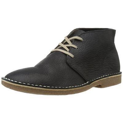 SeaVees 8414 Mens 3 Eye Black Leather Chukka Boots Shoes 9 Medium