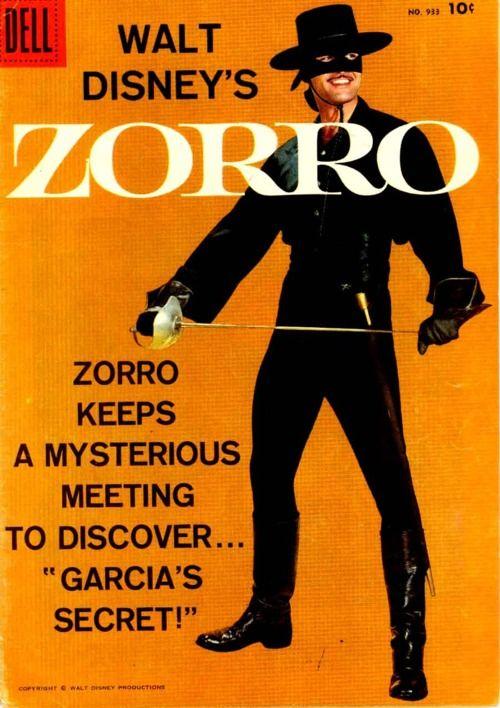 Disney's Zorro comic book. Garcia's Secret!