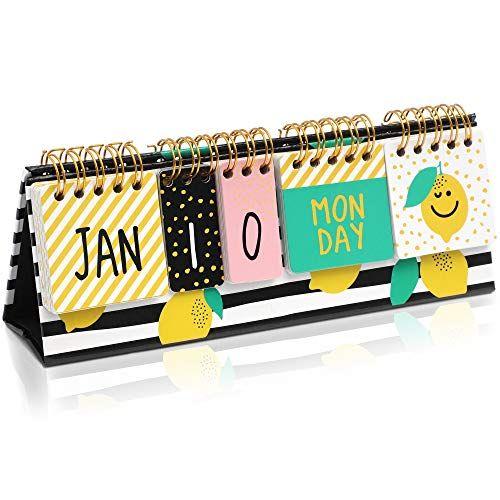 Lemon Desktop Flip Calendar 8 7 X 3 In