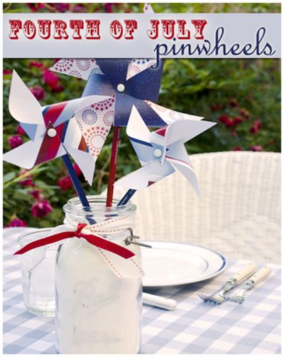 Fourth of July decorations. How to make a pinwheel. #sweetlife #craft www.simplythesweetlife.com: Diy Pinwheels, Diy Crafts, Blue Crafts, Blue Pinwheels, Pinwheel Sweetlife, Fourth Pinwheels, July Pinwheel, Sweetlife Craft, Diys Crafts