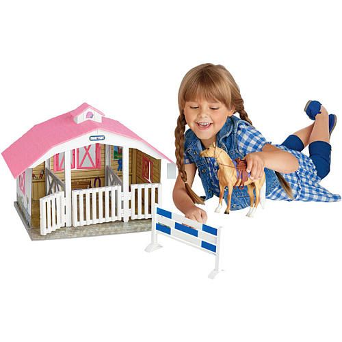 Breyer Classics 3 Horse Stable  - Reeves International -  Preschool Playsets & Figures - FAO Schwarz®