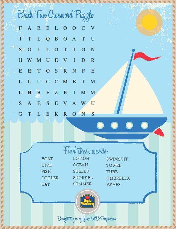 Words, Activities And Kids Travel Activities On Pinterest