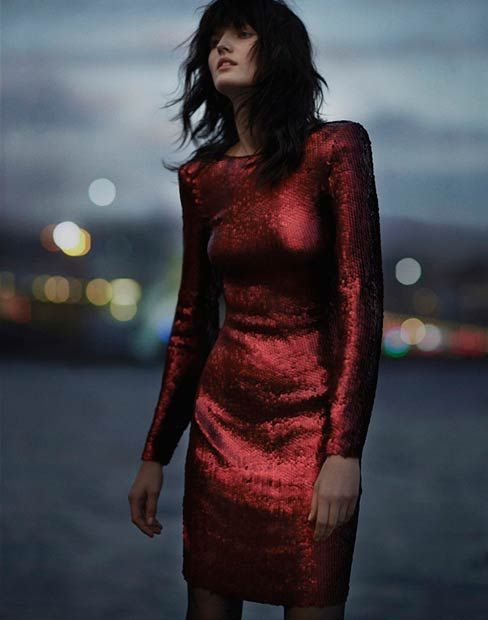 Red Sequin Dress for New Years Eve