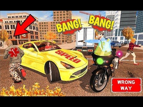 Us Police Motor Bike Chase City Gangster Fight Police Games