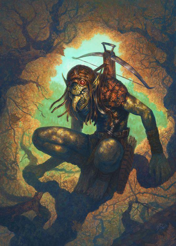 Goblin Tree Sentry by jbballaran with crossbow