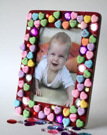 fotolijstje knutselen voor Valentijnsdag