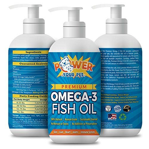 Pure, All Natural Omega 3 Fish Oil for Dogs & Cats, Joint Supplement Wild Caught,No Preservatives, High in EPA and DHA, Eases Pain, Reduces Allergy Symptoms, Improves Coat, Less Shedding 16 oz. ELIMINATES EXCESSIVE SHEDDING, PAINFUL JOINTS AND IMPROVES SKIN AND COAT HEALTH: Our Omega-3 Fish Oil Balances The Properties Of Omega-6 And Acts As An Anti-incendiary In Conditions Like Allergies, Arthritis, And Other Inflammatory Diseases