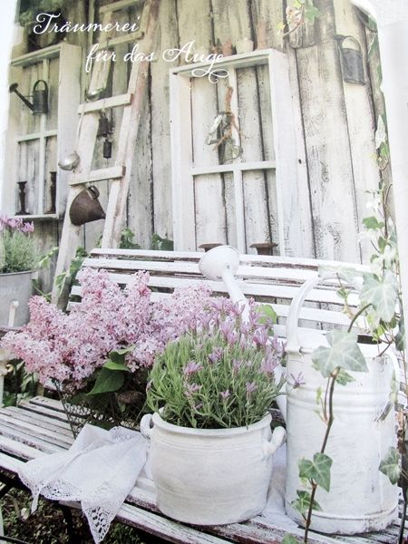 shabby f r den garten sch n garten veranda. Black Bedroom Furniture Sets. Home Design Ideas