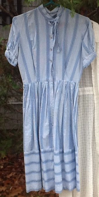 Blue and White Dress by PickersPassion on Etsy