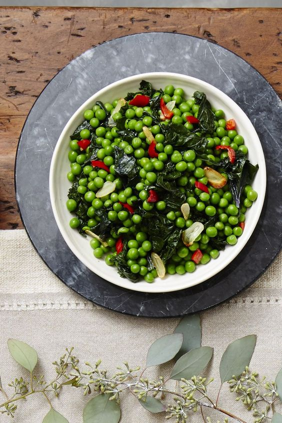Garlicky Kale & Pea